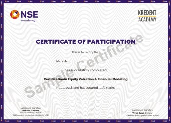 Certification in Financial Modeling Course and Equity Valuation